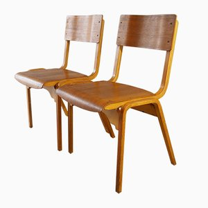Mid-Century Scandinavian Plywood Stacking Chair, 1960s