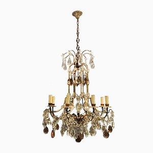 Vintage Gilded Murano Glass Chandelier