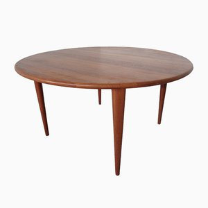 Danish Solid Teak Coffee Table from A/S Mikael Laursen, 1960s