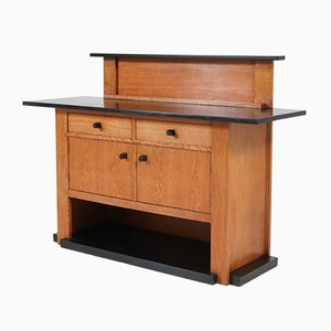 Art Deco Hague School Oak Credenza by J.C. Jansen for L.O.V. Oosterbeek, 1920s