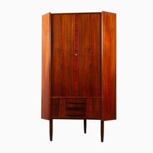 Vintage Danish Rosewood Corner Cabinet, 1960s