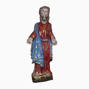 Vintage Wooden Saint Joseph Sculpture