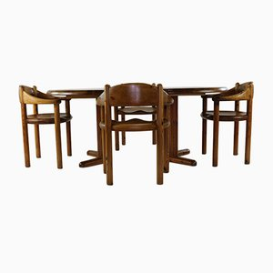 Dining Chairs by Rainer Daumiller for Hirtsalls, 1970s, Set of 5