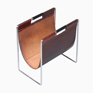 Leather Magazine Rack from Brabantia, 1960s