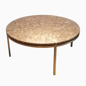 Brass and Marble Top Coffee Table, 1960s