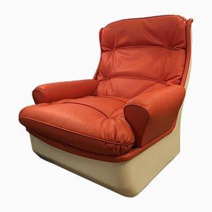 Orange Lounge Chair by Michel Cadestin for Airborne, 1960s