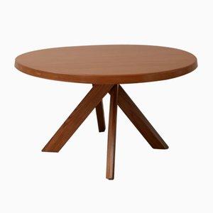 Table de Salle à Manger Modèle T21 Vintage en Orme par Pierre Chapo