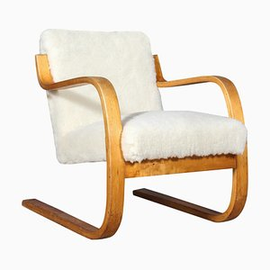 Sheep Wool 402 Series Armchair by Alvar Aalto for Artek, 1960s