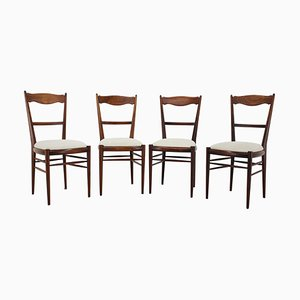 Beech Dining Chairs, 1960s, Set of 4