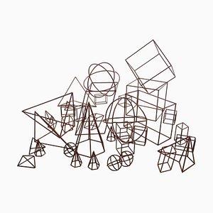 Set di forme geometriche di insegnamento, anni '40
