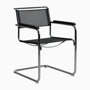 Bauhaus Black S 34 N Cantilever Chair by Mart Stam for Thonet, 2012