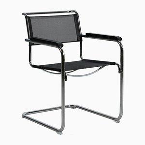 Chaise Cantilever Bauhaus Noire S 34 N par Mart Stam pour Thonet, 2012