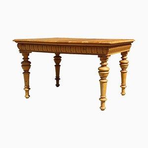 Tavolo antico in legno con gambe in legno