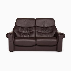Brown Leather 2-Seat Sofa from Stressless