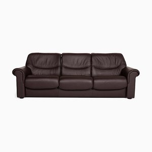 Brown Leather 3-Seat Sofa from Stressless