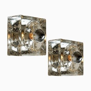 Hand Blown Wall or Ceiling Lamps, Austria, 1960s, Set of 2