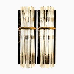Appliques Moderne en Verre par Gaetano Sciolari pour Lightolier, 1960s, Set de 2