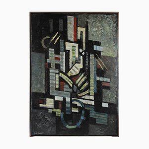 Abstrakte Komposition von Franz A. Homoet, 1950