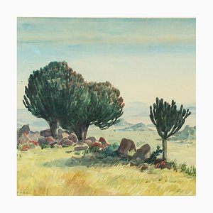 Desert Landscape Painting by Ernst Hare