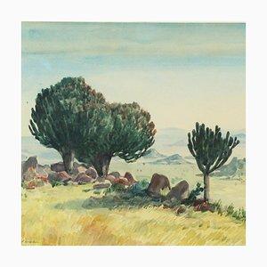 Pittura raffigurante un paesaggio desertico di Ernst Hare
