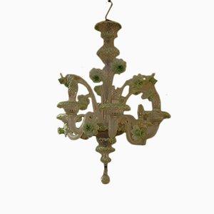 Handmade Murano 6-Light Chandelier, 1970s