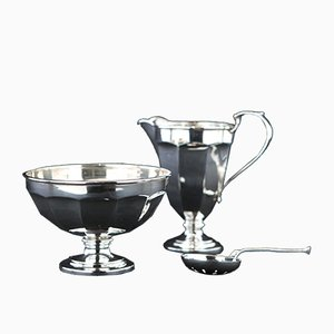 925 Sterling Silber Milch und Zucker Set, 1920er