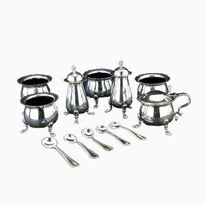 Antique 925 Sterling Silver Spice Bowls Set