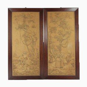 Antike Tapisserie Bilder, 2er Set