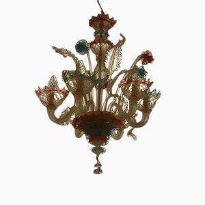 Handmade Murano 6-Flame Chandelier, 1970s