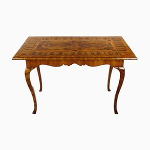 Antique Walnut Burl Game Table