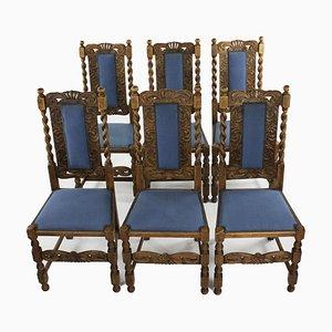 Antique Oak Chairs, Set of 6