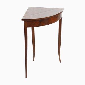 Tavolino antico impiallacciato in mogano