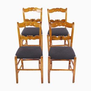 Biedermeier Stühle, 4er Set