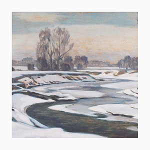 Winter Day on the River Erns di Ernst Bahn