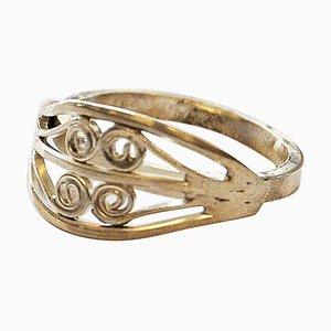 Anello in argento con dettagli ornamentali, Scandinavia, anni '60