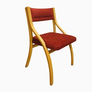 Red Dining Chairs by Ludvig Volak for Drevopodnik Holesov, 1950s, Set of 4