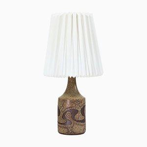 Danish Modern Keramik Stehlampe mit Robert Kasal Le Klint Schirm von Stiil Keramik, 1960er