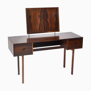 Rosewood Vanity Table with Mirror by Kai Kristiansen for Aksel Kjersgaard, 1960s