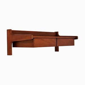 Danish Modern Wall Mounted Cabinet with Drawers in Teak by Kai Kristiansen, 1960s