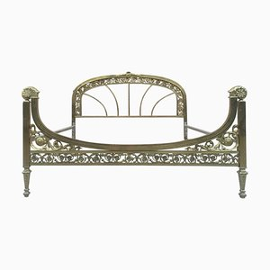 19th Century French Belle Époque Bronze, Iron, and Brass Bed
