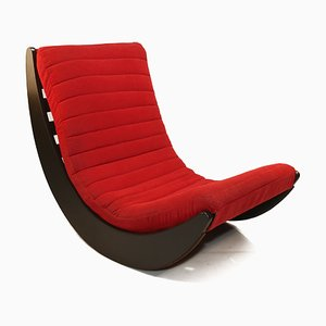 Red Rocking Chair by Verner Panton for Rosenthal, 1970s