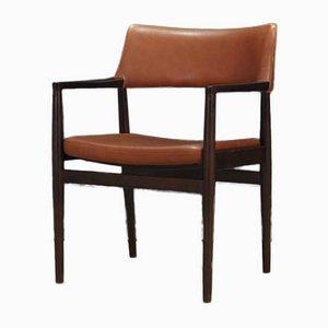 Chaises de Salon Vintage en Chêne et en Cuir par Erik Wørts pour Sorø Stolefabrik, 1960s, Set de 4