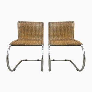Italienische Vintage Modell MR10 Stühle von Ludwig Mies van der Rohe, 1970er, 2er Set