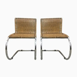 Vintage Italian Model MR10 Chairs by Ludwig Mies van der Rohe, 1970s, Set of 2