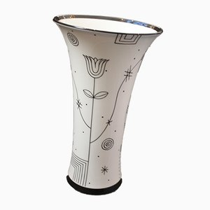 Trumpet-Shaped Porcelain Vase by Josef Hoffmann for Augarten Porzellan, 1930s