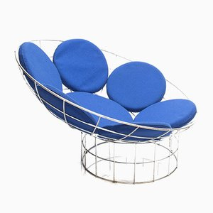 Mid-Century Blue Peacock Lounge Chair by Verner Panton for Habitat