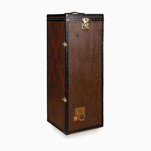 Antique French Male Penderie Trunk by Louis Vuitton, 1910s