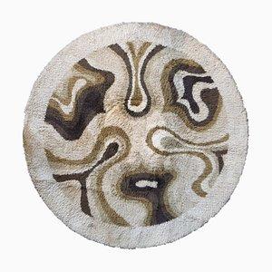 Tappeto Amoeba marrone di Desso, anni '70