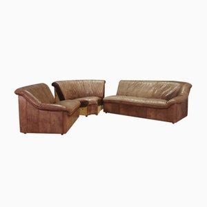 Vintage Leather Corner Sofa, 1970s