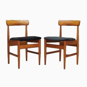 Dänische Vintage Esszimmerstühle, 1970er, 2er Set